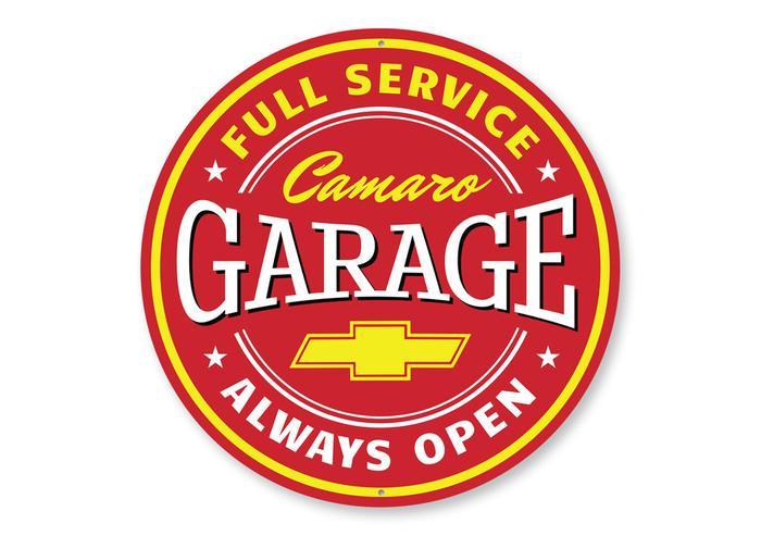 Home Décor Metal Sign Chevy Camaro Garage Garage Sign