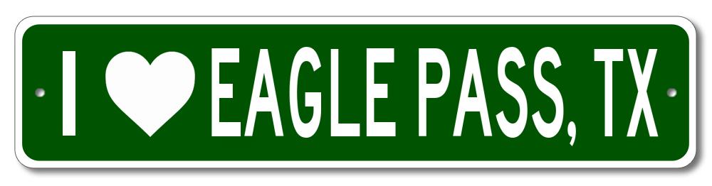 EAGLE PASS Aluminum TEXAS  City Limit Sign