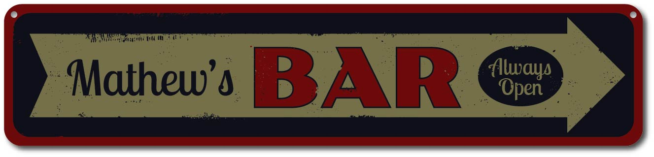Garage We/'re Open Sign Personalized Friendly Mechanic Name Sign ENSA1001535
