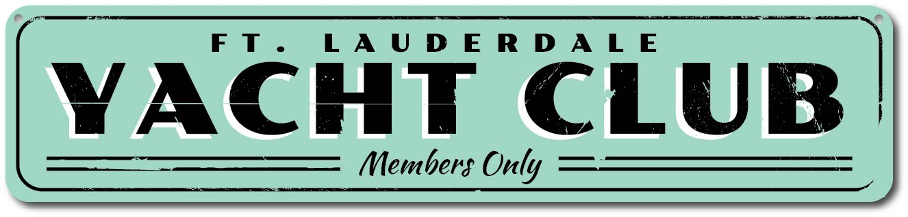 Custom Beach Sign ENSA1001319A Personalized Members Only Sign Yacht Club Sign