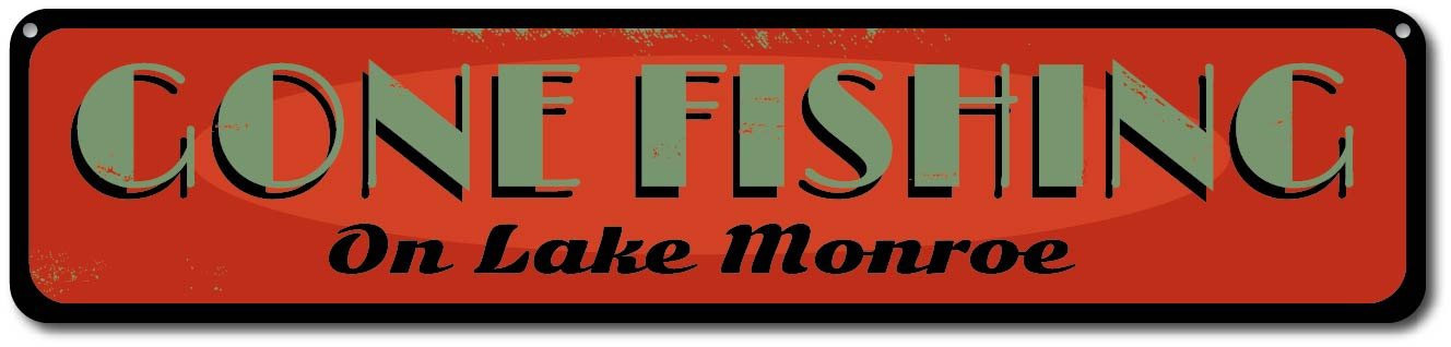 ENSA1001850 Personalized Lake House Sign Custom Gone Fishing Vertical Sign