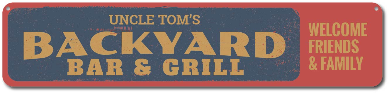 Bar Sign Personalized Backyard BBQ Sign Home Decor BBQ Sign- Grill Sign