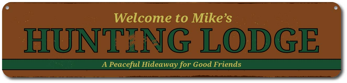 Wilderness Lodge Sign Personalized Welcome Wild Animals Sign ENSA1001912
