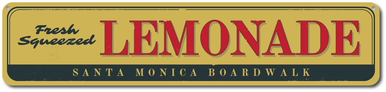 lemonade sign personalized boardwalk fresh squeezed lemons sign