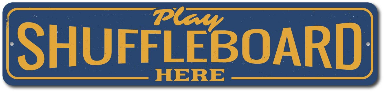 Shuffleboard Tournament Sign Welcome Annual Party Game Winner ENSA1002388