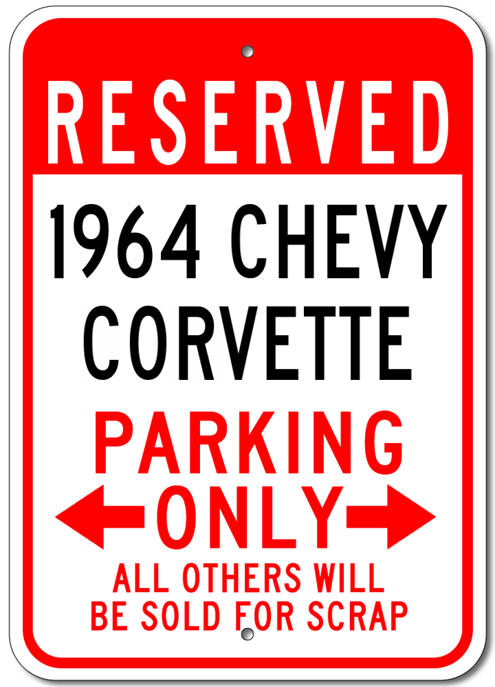 1964 64 CHEVY EL CAMINO Parking Sign