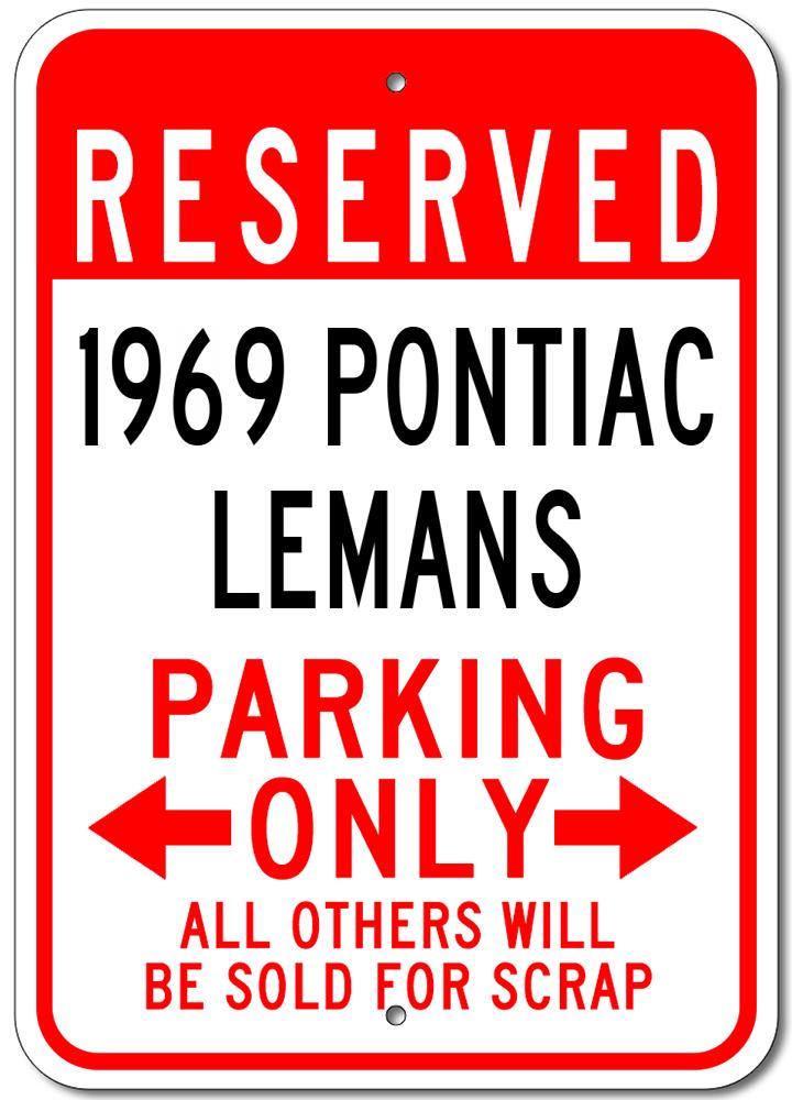 1937 37 PONTIAC  Parking Sign
