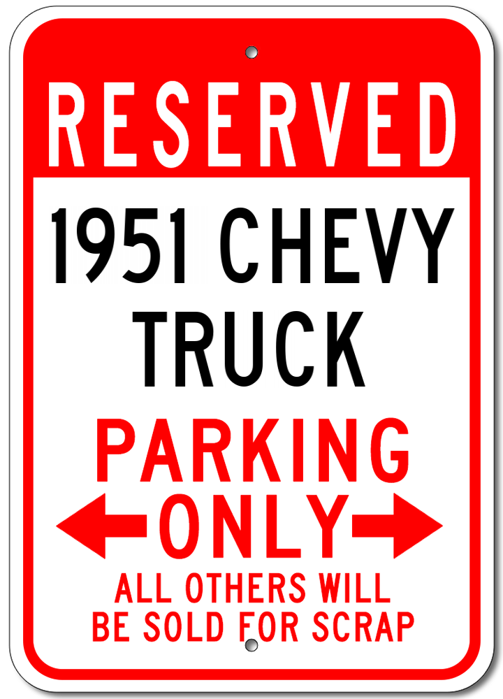 1954 54 BUICK ROADMASTER Parking Sign