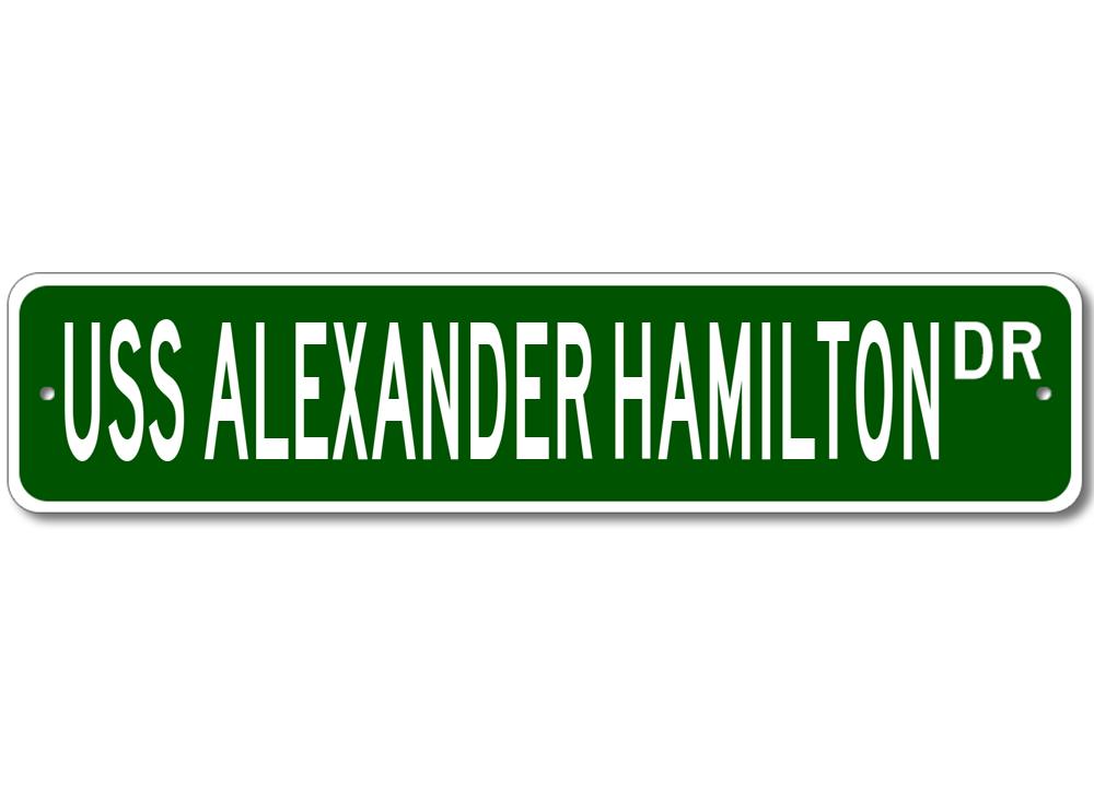 N -617 Patch Full Color USS Alexander Hamilton SSB