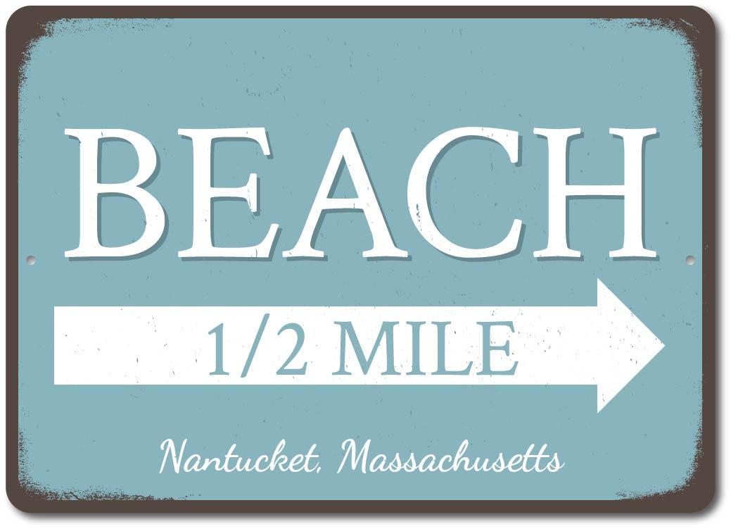 Beach Direction Sign Beach Marker Sign Beach Arrow Condo Sign ENSA1002947
