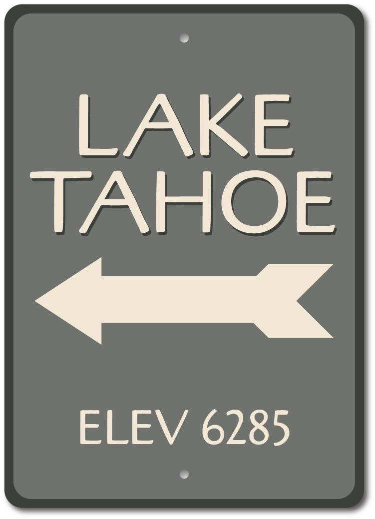 Personalized Vertical To The Lake Arrow Family Name Cabin Lake Sign ENSA1001858