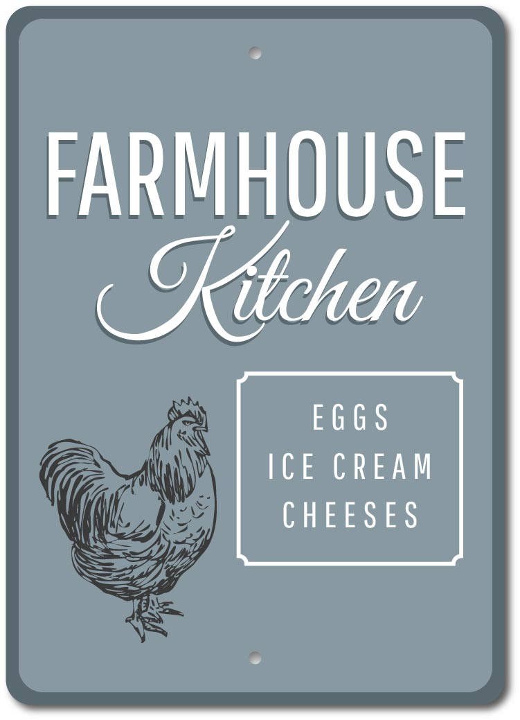 Hen Sign Farmhouse Kitchen Sign Farmhouse Farm Kitchen Metal Wall Decor Ebay