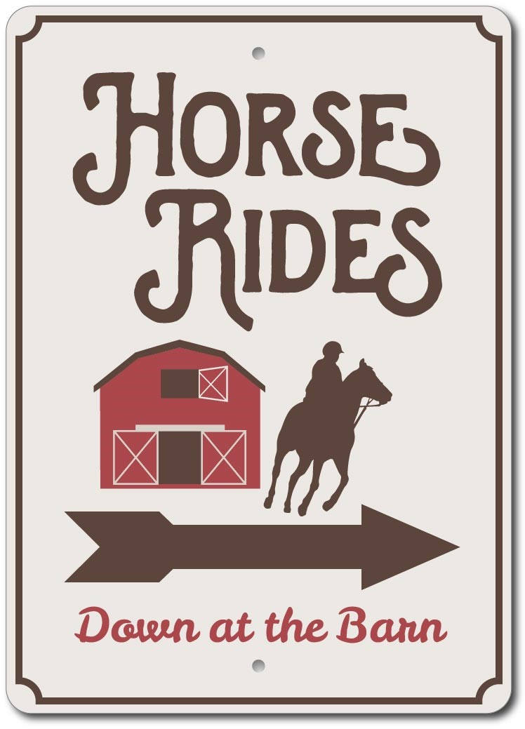 Horse Rides Sign Horse Barn Decor Horse Barn Sign Ensa1003107 Ebay