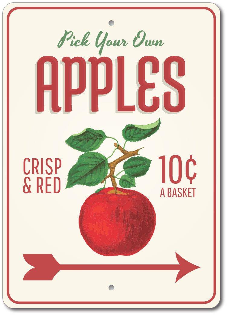 Home Decor Apple Decor Apple Orchard Sign Apples Aluminum Sign Ensa1003340 Home Garden Ohioeyecareconsultants Com