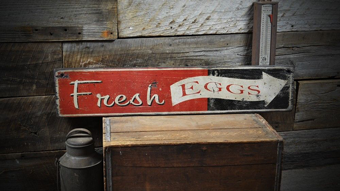 Rustic Hand Made Vintage Wooden Sign ENS1000334 Fresh Cut Flowers Sign