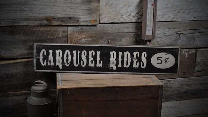 Rustic Hand Made Vintage Wooden ENS1000281 Custom Buttermilk 5 Cents Sign