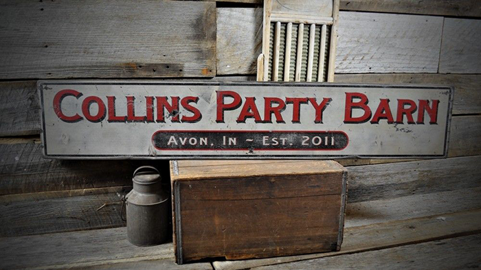 f8b6bc8c0b91d Custom Party Barn Sign - Primitive Rustic Hand Made Vintage Wood ...