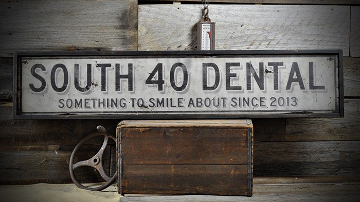 Custom Distressed Dentist Office Sign   Rustic Hand Made Vintage Wood  ENS1000609