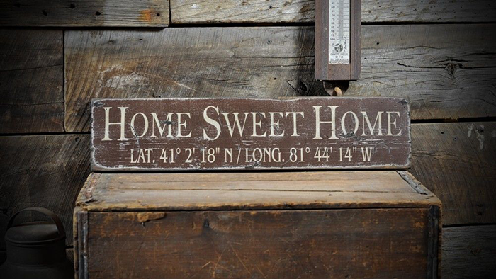 Custom Jackson Hole Lat /& Long Sign Rustic Hand Made Vintage Wooden ENS1000469