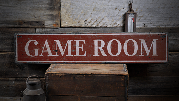 Rustic Distressed Wood Sign ENS1000889 Game Room Game Room Decor Game Room